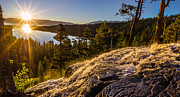Lake Tahoe Photography Prints - Sunrise over EagleFalls and Emerald Bay Lake Tahoe Print by Scott McGuire