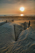 Seashore Metal Prints - Sunrise Over Hatteras Metal Print by Steven Ainsworth