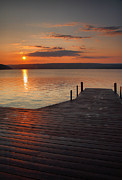 Finger Lakes Posters - Sunrise Over Keuka VII Poster by Steven Ainsworth