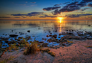 Door County Prints - Sunrise over Lake Michigan Print by Scott Norris