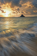 Hi Hat Framed Prints - Sunrise Over Mokolii Framed Print by Hawaii  Fine Art Photography