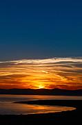 Jamie Pham - Sunrise over Mono Lake in California Abstract.
