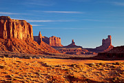 Layer Photo Prints - Sunrise over Monument Valley Print by Brian Jannsen