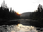 Eric Menk Metal Prints - Sunrise over Murmur Creak Metal Print by Eric Menk