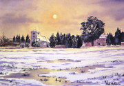 Sunrise Over St Botolph's Church Print by Bill Holkham