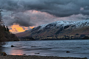 Snow Pyrography Prints - Sunrise Over Ullswater Print by Karl Wilson