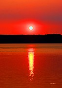 Tap On Photo Prints - Sunrise Over Whidbey Island Print by Marcia Fontes Photography