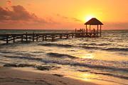 Sunrise Pier Print by Roupen  Baker