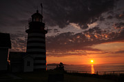 Quoddy Photography Posters - Sunrise Quoddy Head Poster by Sandra Miner