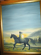 Kathy Livermore Art - Sunrise Ride by Kathy Livermore