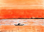 Rays Paintings - Sunrise Sail by Sonali Gangane