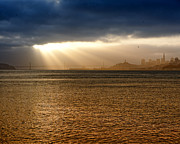 Bay Bridge Art - Sunrise San Francisco Bay by Troy Montemayor