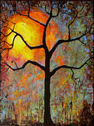Branches Painting Metal Prints - Sunrise Sunset Metal Print by Blenda Studio