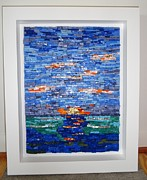 Sunset Glass Art Originals - Sunrise/Sunset by Maggie Deitsch