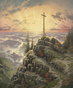 Cross Paintings - Sunrise by Thomas Kinkade