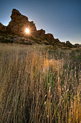 Backbone Prints - Sunrise through Devils Backbone Keyhole. HDR. Print by Preston Broadfoot