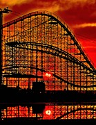 Coaster Prints - Sunrise thru the Coaster Print by Nick Zelinsky