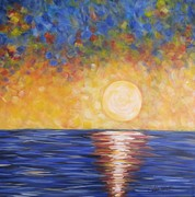 Abstract Realism Paintings - Sunrise...Sunset by Molly Roberts