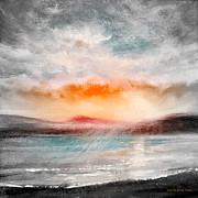 Sunsets Original Paintings - Sunset 111 by Gina De Gorna