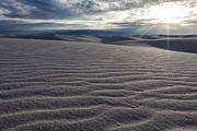 Sun Rays Art - Sunset 3 - White Sands by Scotts Scapes