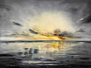 Sunsets Original Paintings - Sunset 384 by Gina De Gorna