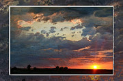 Photomanipulation Photo Prints - Sunset after a thunderstorm photoart Print by Debbie Portwood