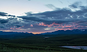Tracey Hunnewell Framed Prints - Sunset along the old Denali Highway Framed Print by Tracey Hunnewell