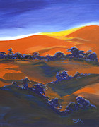 Shadow Art Painting Originals - Sunset And Shadow by Donna Blackhall