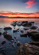 Sunshine Metal Prints - Sunset at Acadia Beach Metal Print by Alexis Birkill
