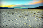 Salt Flats Digital Art - Sunset at Badwater Death Valley by Mark and Deidre Ovrebo