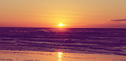 HJBH Photography - Sunset at beach in vintage colors