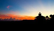 Romanticism Posters - Sunset at Boca Grande Lighthouse Poster by Fizzy Image