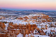 Outdoor Theater Posters - Sunset at Bryce Canyon National Park Utah Poster by Jason O Watson