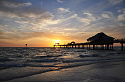 Clearwater Beach Posters - Sunset at Clearwater Poster by Bill Cannon