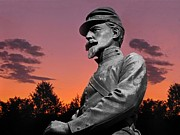 David Dehner Prints - Sunset at Gettysburg  Print by David Dehner