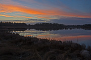 Rehoboth Beach Prints - Sunset at Gordons Pond Print by Robert Pilkington
