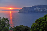 Mediterranean Landscape Posters - Sunset at Herradura beach Poster by Guido Montanes Castillo