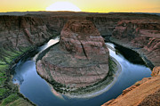 Sunset At Horseshoe Bend Print by Dan Myers