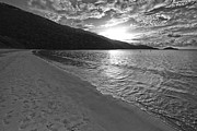 Thomas Pyrography Metal Prints - Sunset at Magens Bay Beach Metal Print by Eyzen Medina