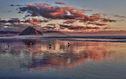 Morros Prints - Sunset at Morro Strand Print by Beth Sargent