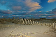 Sunset At Nauset Beach Cape Cod Print by Amazing Jules