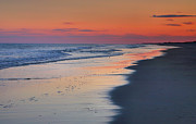 Acrylic On Wood Framed Prints - Sunset At Ocracoke II Framed Print by Steven Ainsworth