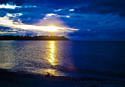 Sunflare Art - Sunset at Parksville Beach by Christi Kraft