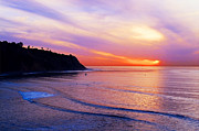 Landscape At Sunset Framed Prints - Sunset at PV Cove Framed Print by Ron Regalado