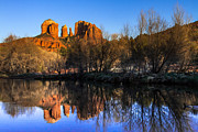 Sunset At Red Rocks Crossing In Sedona Az Print by Teri Virbickis