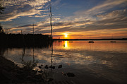 Manasquan Reservoir Prints - Sunset at Reservoir Print by Angel Cher