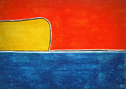 Minimalism Pastels - Sunset at Sea by Carla Sa Fernandes