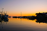 Warm Summer Photo Prints - Sunset at shem creek Print by Matthew Trudeau