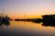 Sunset At Shem Creek Print by Matthew Trudeau
