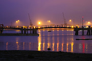 Sunset At Southampton Docks Print by Terri  Waters